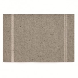 "Cotton Placemat ""Day Drap"" Grey-Green 32x45cm (12 Units)"