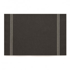 "Cotton Placemat ""Day Drap"" Black 32x45cm (72 Units)"