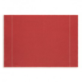 "Cotton Placemat ""Day Drap"" Red 32x45cm (12 Units)"