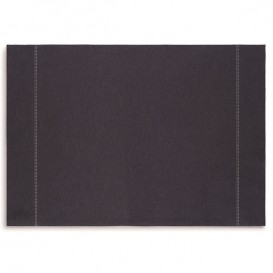 "Cotton Placemat ""Day Drap"" Dark Blue 32x45cm (12 Units)"