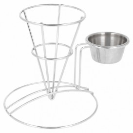 Display Basket Containers Steel with Cup Ø8,3x12,7cm (12 Units)