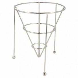 Serving Basket Containers Steel Stackable Ø12,7x15,2cm (1 Unit)