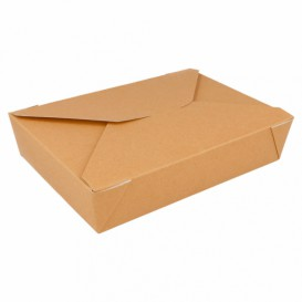 "Paper Take-out Container ""American"" Natural 19,7x14x4,6cm 1470ml (50 Units)"