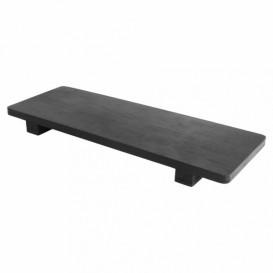 Bamboo Sushi Tray Black 30x11x2,5cm (40 Units)