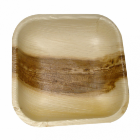 Palm Leaf Mini Plate Square Shape 11,5x11,5x1,5cm (200 Units)