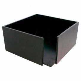 Black Bamboo Napkin Holder 21x21x10cm (1 Unit)