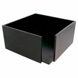 Black Bamboo Napkin Holder 21x21x10cm (1 Unit)