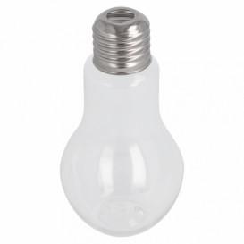 Plastic Bottle with Cap Light Bulb Design PET Clear 100ml (25 Units)