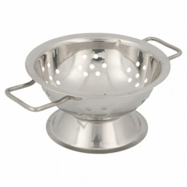 Serving Mini Colander Bowl Steel Ø9,7x5,5cm (12 Units)