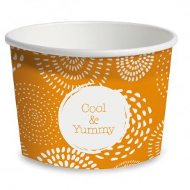 Paper Container Ice Cream Cool&Yummy 10Oz/310ml (50 Units)