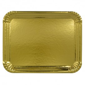 Paper Tray Rectangular shape Gold 22x28cm (600 Units)