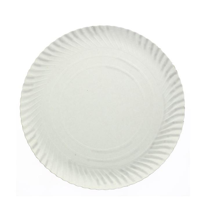 Paper Plate Round Shape White 38cm (250 Units)