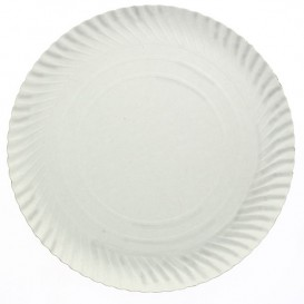 Paper Plate Round Shape White 35cm 900g/m2 (50 Units)