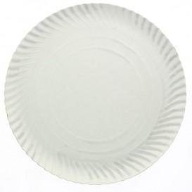 Paper Plate Round Shape White 180 mm 500g/m2 (100 Units)