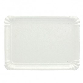 Paper Tray Rectangular shape White 9x15 cm (100 Units)