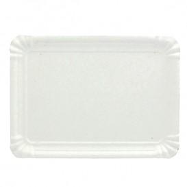 Paper Tray Rectangular shape White 10x16 cm (100 Units)