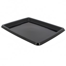 Plastic Platter Rectangular Shape Black 31,6x26,5x2cm (50 Uds)