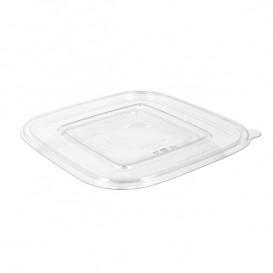Plastic Lid for Deli Container PET Flat 12x12cm (1000 Units)