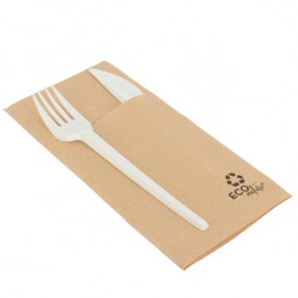 Cutlery Pocket Fold Napkin de Papel Eco 40x40cm (30 Units)
