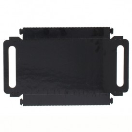 Paper Tray with Handles Rectangular shape Black 22x28 cm (400 Units)