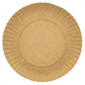 Paper Plate Round Shape Kraft 25cm 255g/m2 (100 Units)
