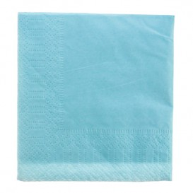 Paper Napkin Edging Light Blue 20x20 2C (100 Units)