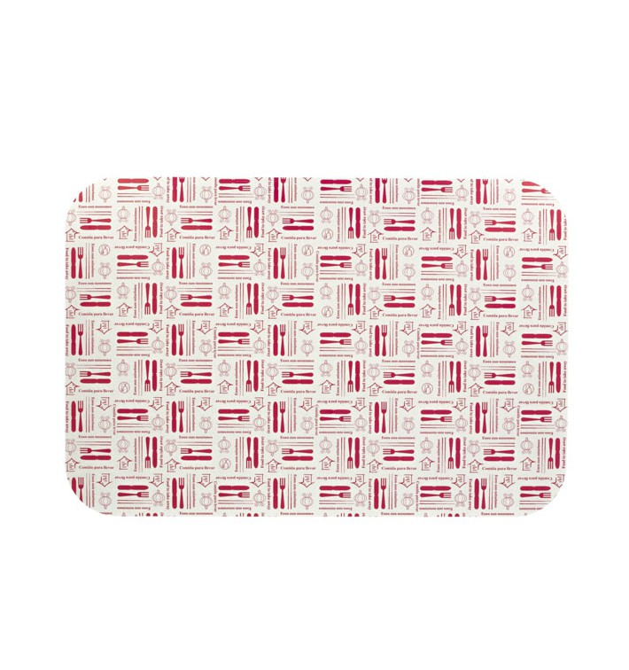 "Paper Lid for Foil Pan ""18 Cannelloni"" 2200ml (500 Units)"