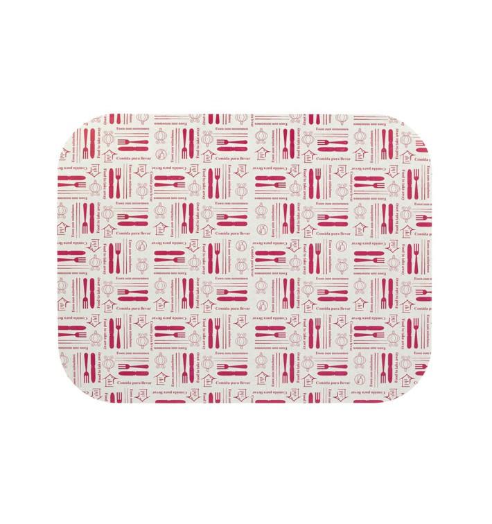 "Paper Lid for Foil Pan ""12 Cannelloni"" 1180ml (600Units)"