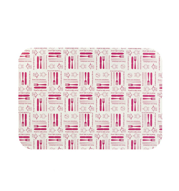 "Paper Lid for Foil Pan ""9 Cannelloni"" 890ml (800 Units)"