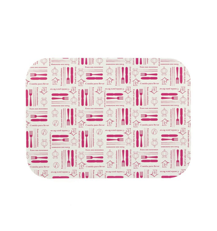 "Paper Lid for Foil Pan ""6 Cannelloni"" 590ml (500 Units)"