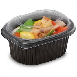 Plastic Container PP Rectangular Shape 450ml 14,2x11,1x6cm (80 Units)