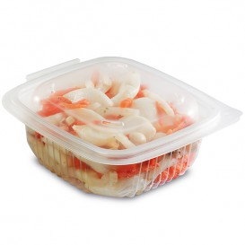 Plastic Container Microwave PP Transparente 250ml 12,3x11,4cm (50 Units)