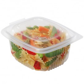 Plastic Container Microwave PP Transparente 750ml 14,2x12,3cm (600 Units)