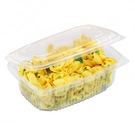 Plastic Container Microwave PP Transparente 1800ml 19,0x18,5cm (300 Units)