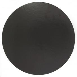 Paper Cake Circle Black 22cm (100 Units)