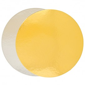 Paper Cake Circle Gold and Silver 24cm (400 Units)