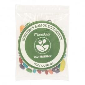 Plastic Bag Autoseal with Pocket 16x22+20cm G-200 (100 Units)