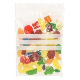 Plastic Zip Bag Seal top Write-On Block 10x15cm G-200 (100 Units)