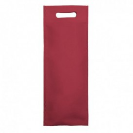 Non-Woven Bag with Die-cut Handles Burgundy 17+10x40cm (200 Units)