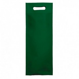 Non-Woven Bag with Die-cut Handles Green 17+10x40cm (25 Units)