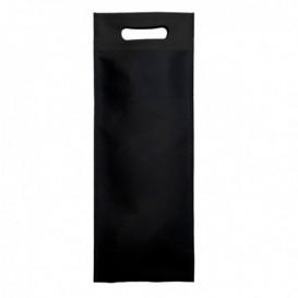 Non-Woven Bag with Die-cut Handles Black 17+10x40cm (25 Units)