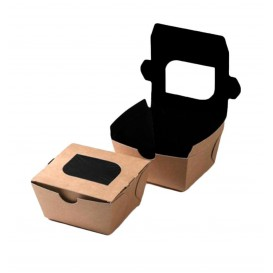 """Paper Take-out Container """"Premium"""" 11x10x5,5cm 400ml (500 Units)"""