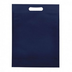Non-Woven Bag with Die-cut Handles Navy Blu 30+10x40cm (200 Units)