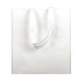 Non-Woven Bag with Short Handles White 38x42cm (25 Units)