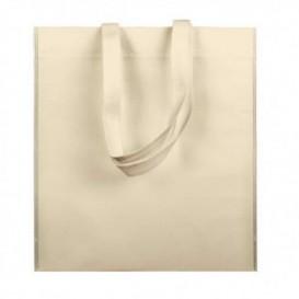 Non-Woven Bag with Short Handles Cream 38x42cm (25 Units)