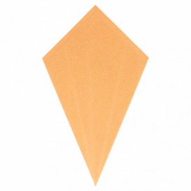 Paper Carrugated Dipping Cone Kraft 27cm 250g (100 Units)