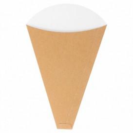 """Paper """"Crêpes"""" Cones Kraft 12x2,5x19cm 300g/m2 (100 Units)"""