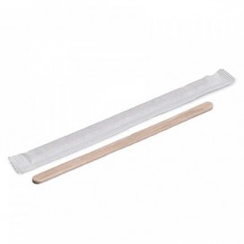 Wooden Coffee Stirrer Wrapped 11cm (500 Units)