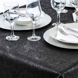 Non-Woven PLUS Tablecloth Black 120x120cm (150 Units)