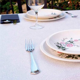 Non-Woven PLUS Tablecloth White 120x120cm (150 Units)
